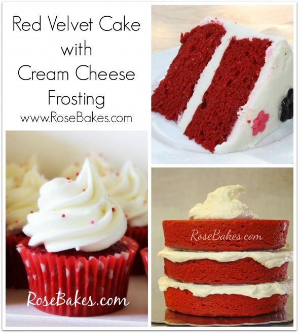 Cream Cheese Frosting For Red Velvet Cake  Red Velvet Cake with Cream Cheese Buttercream