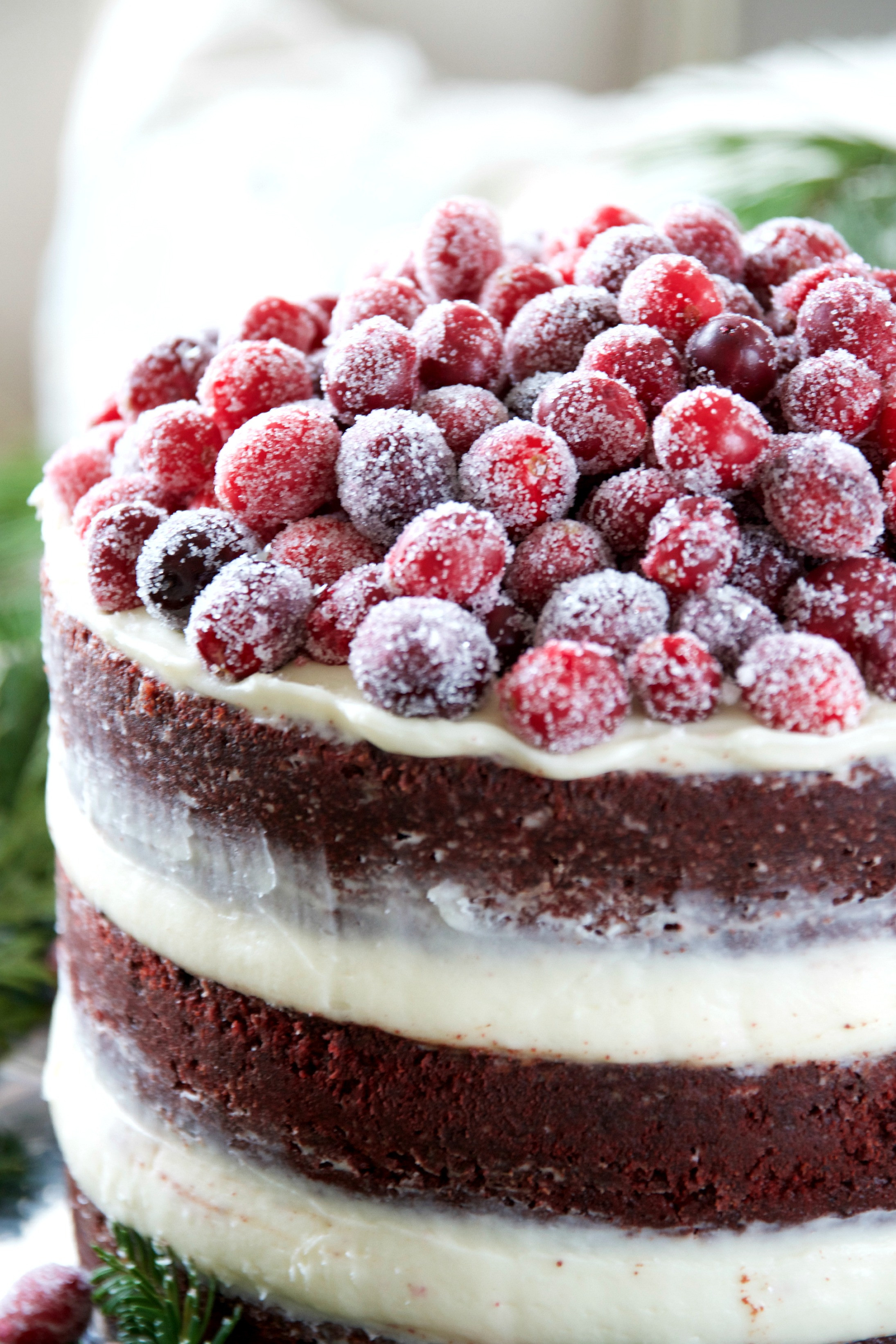 Cream Cheese Frosting For Red Velvet Cake  Naked Red Velvet Layer Cake with Cream Cheese Frosting and