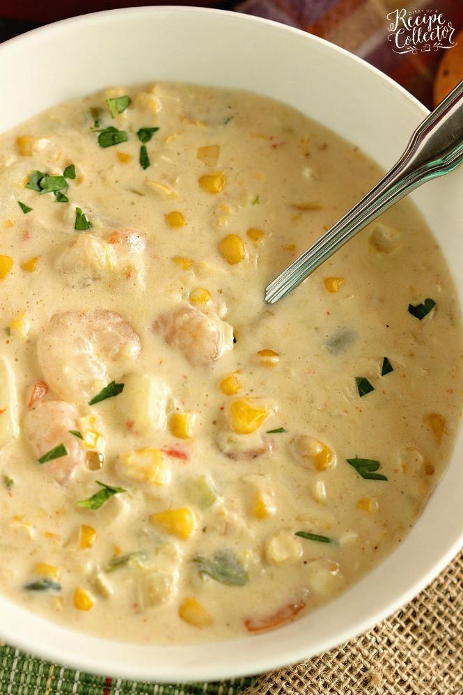Cream Of Corn Soup  Creamy Shrimp & Corn Soup Diary of A Recipe Collector