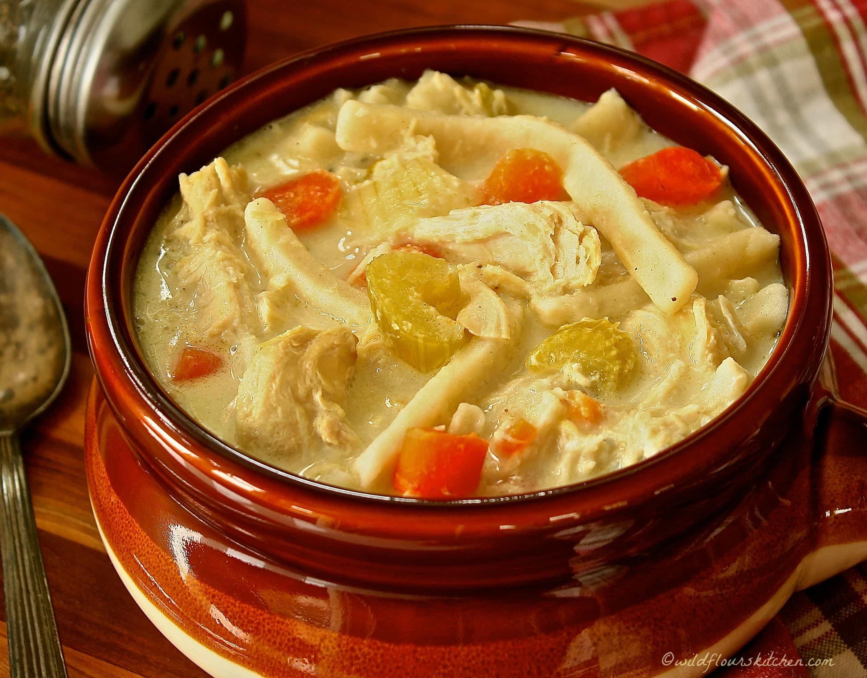 Creamy Chicken Stew Recipes  Creamy Chicken Stew with Dumpling Noodles Wildflour s