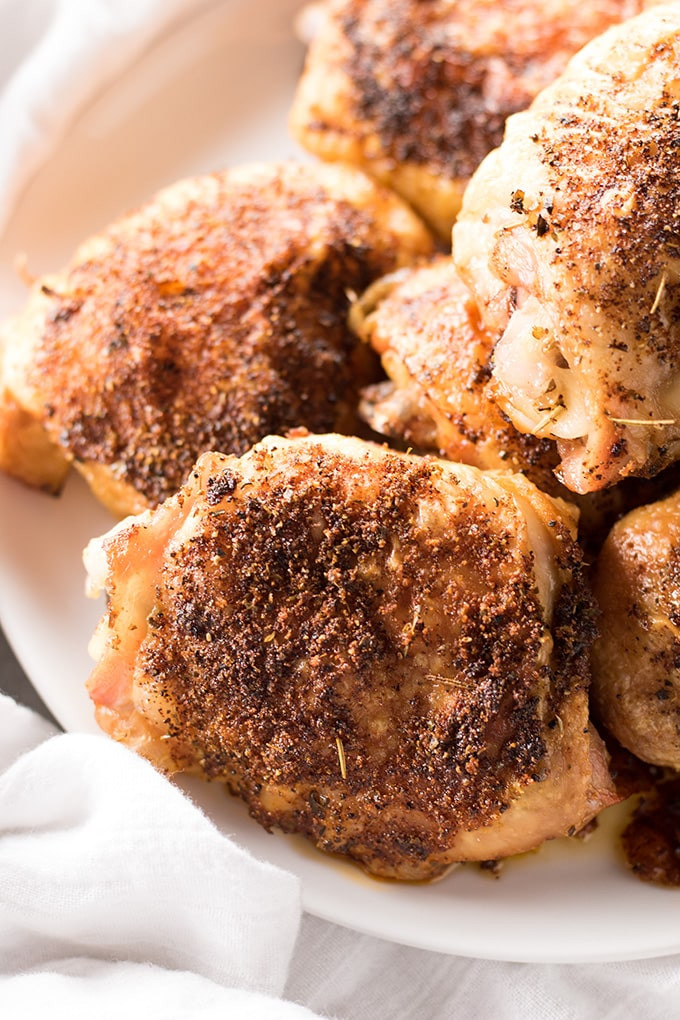 Crispy Baked Chicken Thighs  Crispy Baked Chicken Thighs The Salty Marshmallow