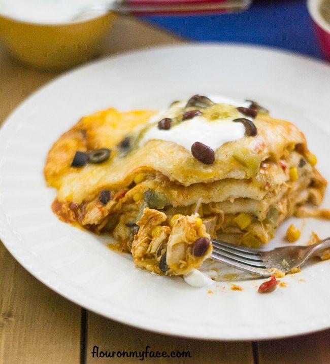 Crock Pot Chicken Enchiladas  Crock Pot Chicken Enchilada Casserole