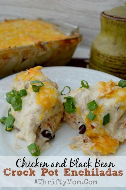 Crock Pot Chicken Enchiladas  Chicken and Black Bean Crock Pot Enchiladas CrockPot Recipe