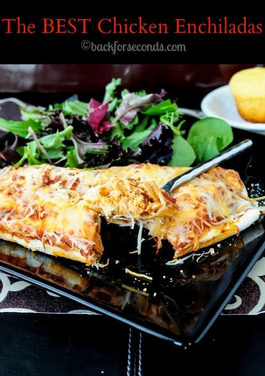 Crock Pot Chicken Enchiladas  Creamy Chicken Enchiladas Back for Seconds