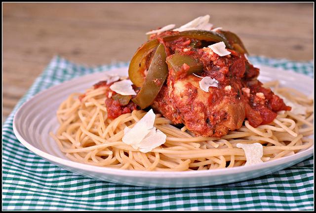 Crock Pot Chicken Spaghetti  Crock Pot Chicken Spaghetti