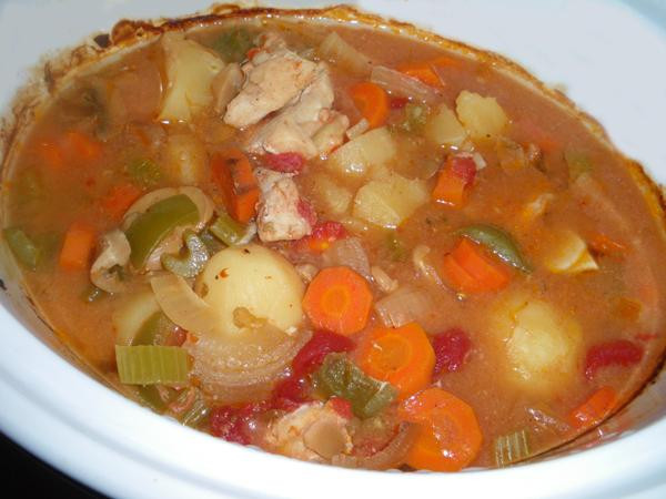 Crock Pot Chicken Stew  Crock Pot Colorful Chicken Stew Recipe Food