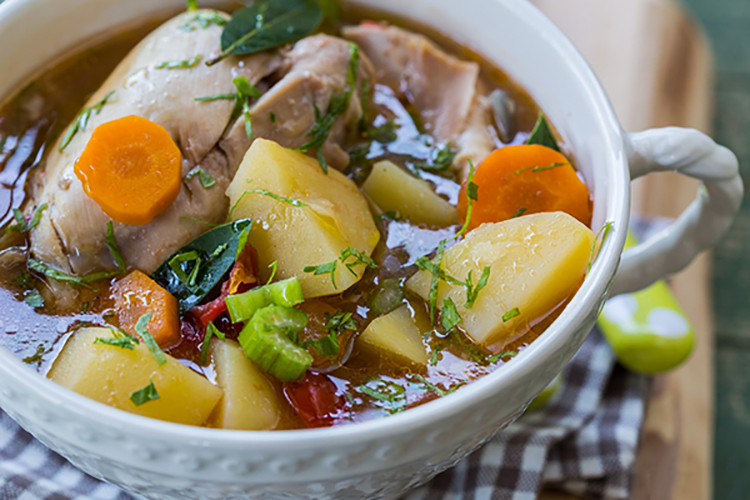 Crock Pot Chicken Stew  Crock Pot Rustic Chicken Stew