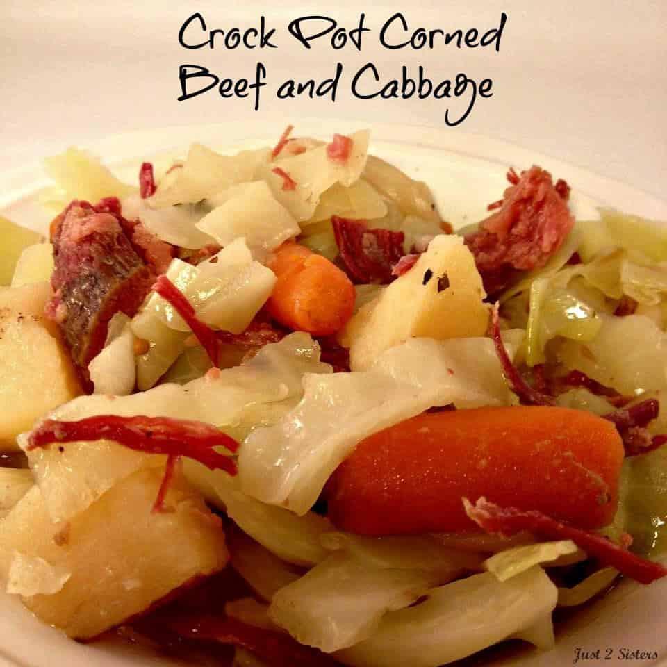 Crock Pot Corned Beef And Cabbage  Crock Pot Corned Beef and Cabbage Just 2 Sisters