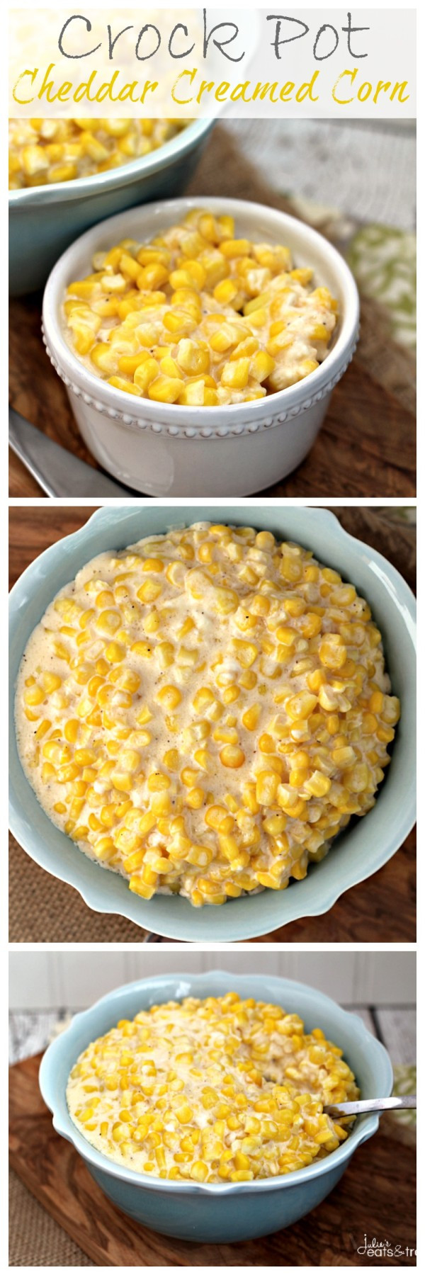 Crock Pot Main Dishes  Crock Pot Cheddar Creamed Corn The perfect easy side