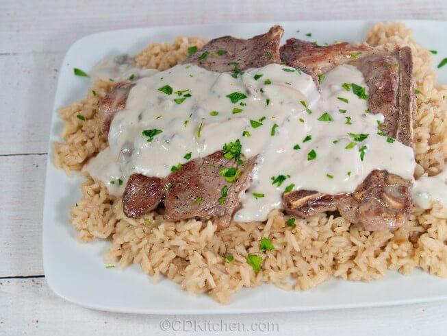 Crock Pot Pork Chops With Mushroom Soup  Crock Pot Pork Chops And Rice Recipe from CDKitchen