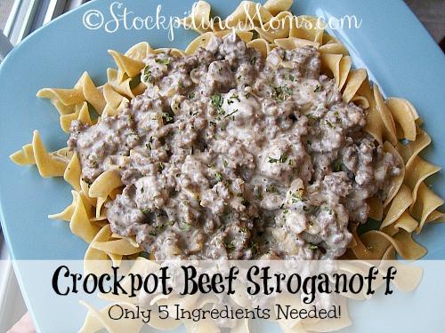 Crock Pot Recipes With Ground Beef  Crockpot Beef Stroganoff
