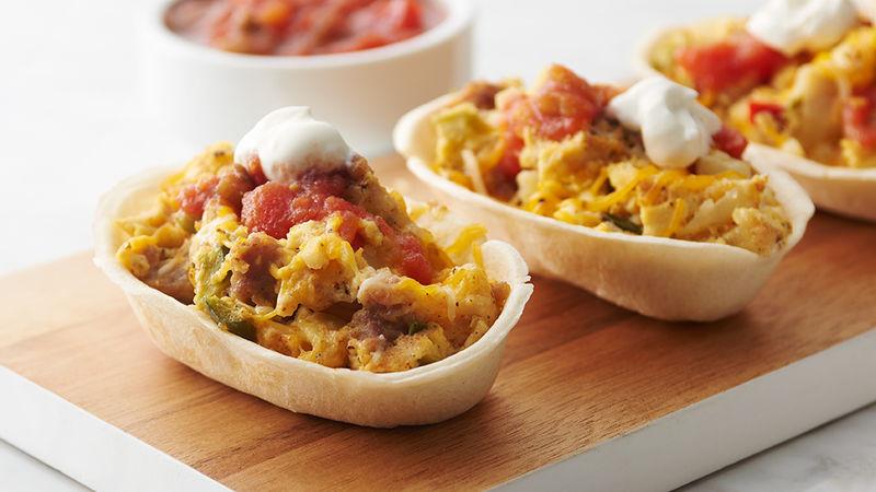 Crockpot Breakfast Burritos  Slow Cooker Mini Breakfast Burrito Bowls Recipe