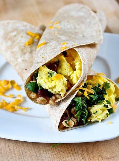 Crockpot Breakfast Burritos  18 Slow Cooker Breakfast Recipes