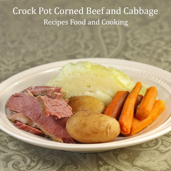 Crockpot Corn Beef And Cabbage  Crock Pot Corned Beef and Cabbage Recipe