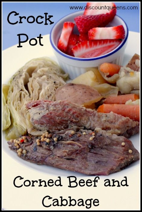 Crockpot Corn Beef And Cabbage  17 Best images about St Patty on Pinterest