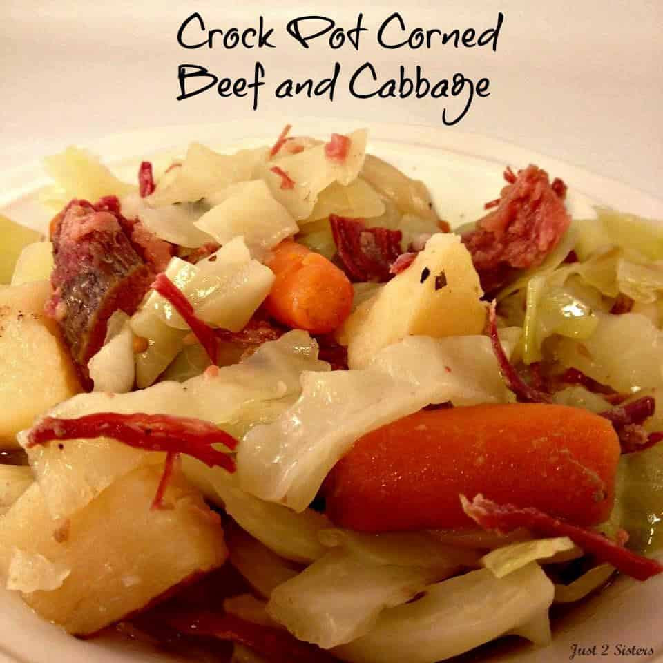 Crockpot Corn Beef And Cabbage  Crock Pot Corned Beef and Cabbage Just 2 Sisters