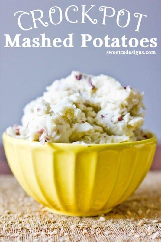 Crockpot Mashed Potatoes  Crockpot Mashed Potatoes ⋆ Sweet C s Designs