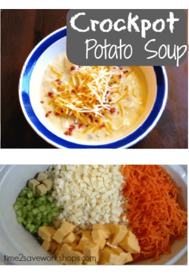 Crockpot Potato Soup  Easy Cheesy Potato Soup Recipe Slow Cooker & Stovetop