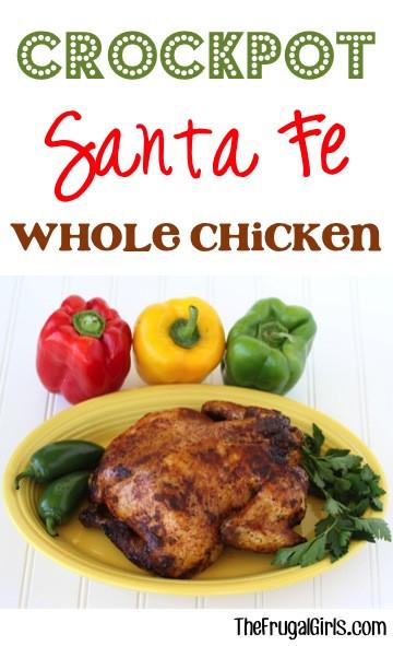 Crockpot Whole Chicken Recipes  Crockpot Santa Fe Whole Chicken Recipe Fajita Flavored