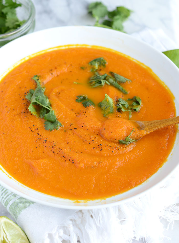 Curried Carrot Soup  Curried Ginger Carrot Soup Low Calorie 6 Ingre nts Vegan