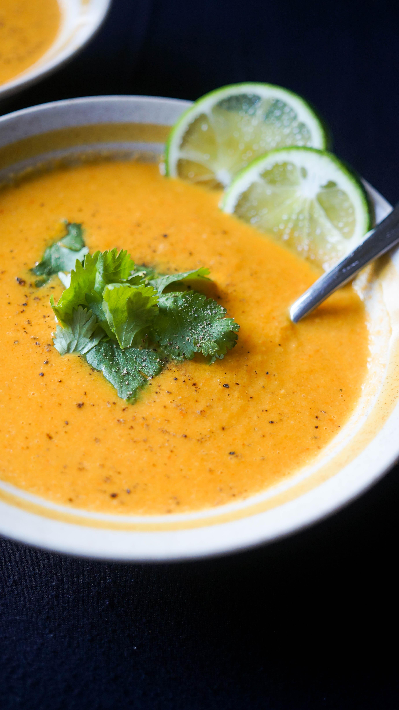 Curried Cauliflower Soup  Curried Cauliflower Soup Kitschen Cat