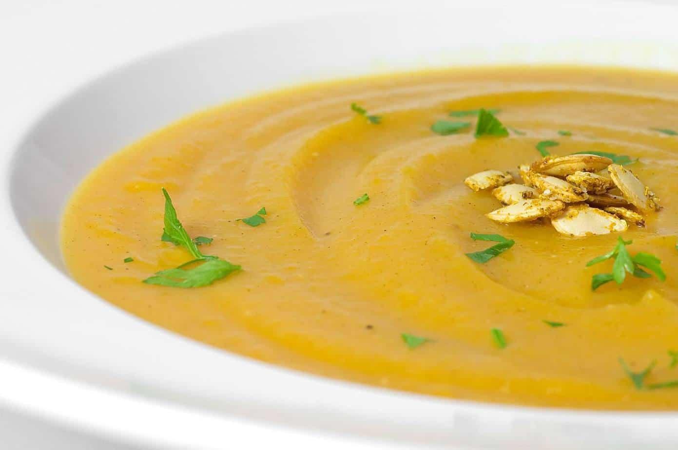 Curry Butternut Squash Soup  Curried Butternut Squash Soup Recipe