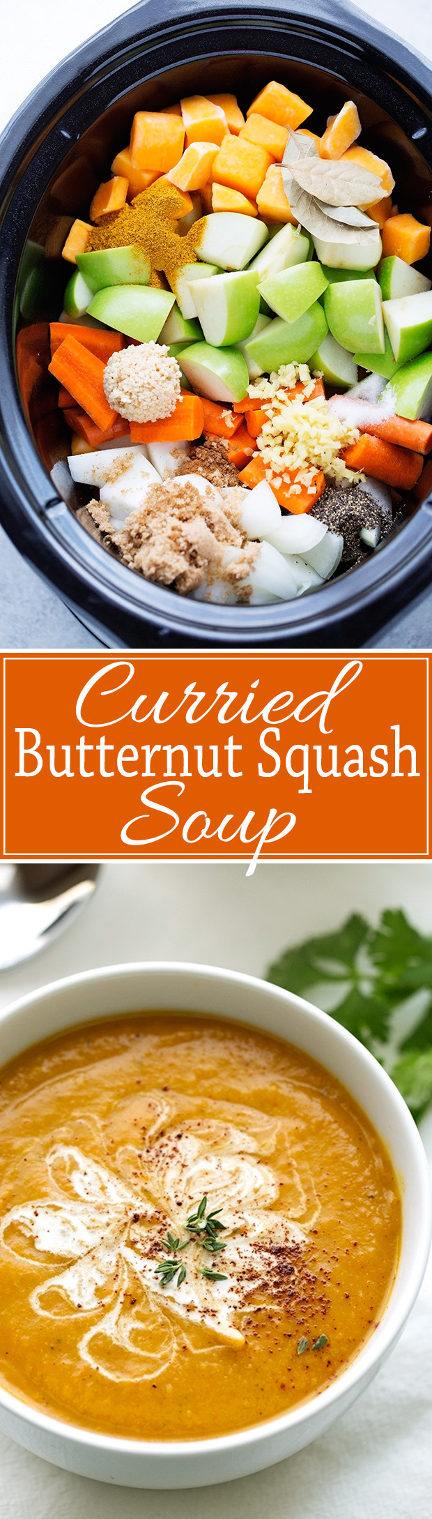 Curry Butternut Squash Soup  Slow Cooker Curried Butternut Squash Soup Recipe