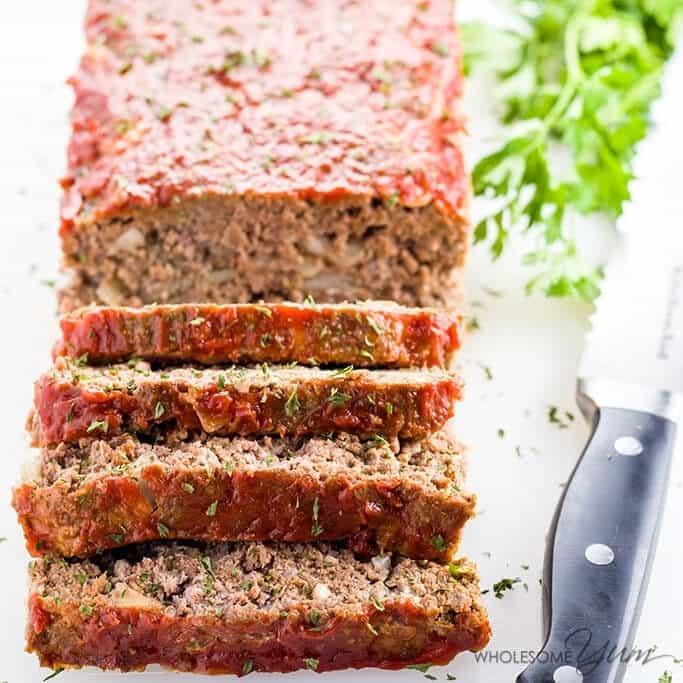 Dairy Free Keto Recipes  Paleo Keto Low Carb Meatloaf Recipe VIDEO