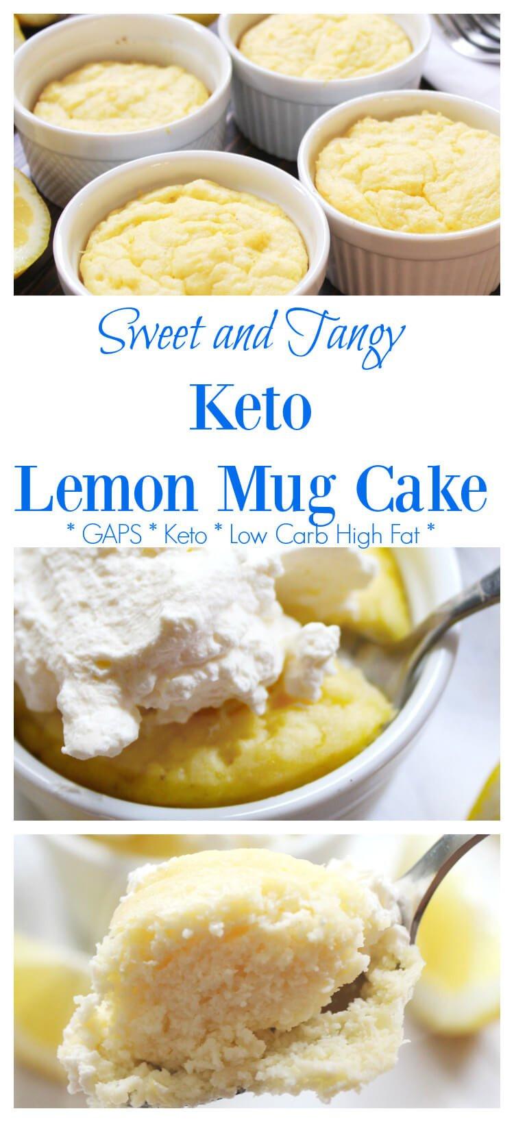 Dairy Free Keto Recipes  Keto Lemon Mug Cake Recipe GAPS & Dairy Free Option