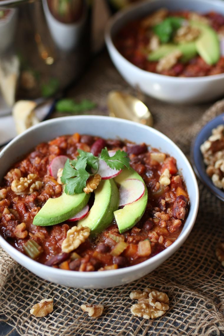 Dairy Free Keto Recipes  Vegan Keto Walnut Chili