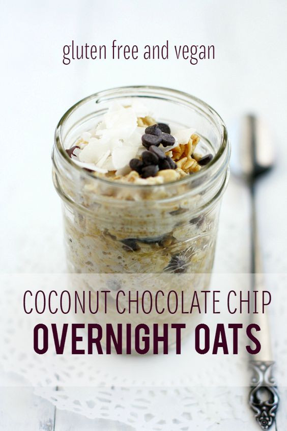 Dairy Free Overnight Oats  Chocolate Chip Coconut Overnight Oats Recipe