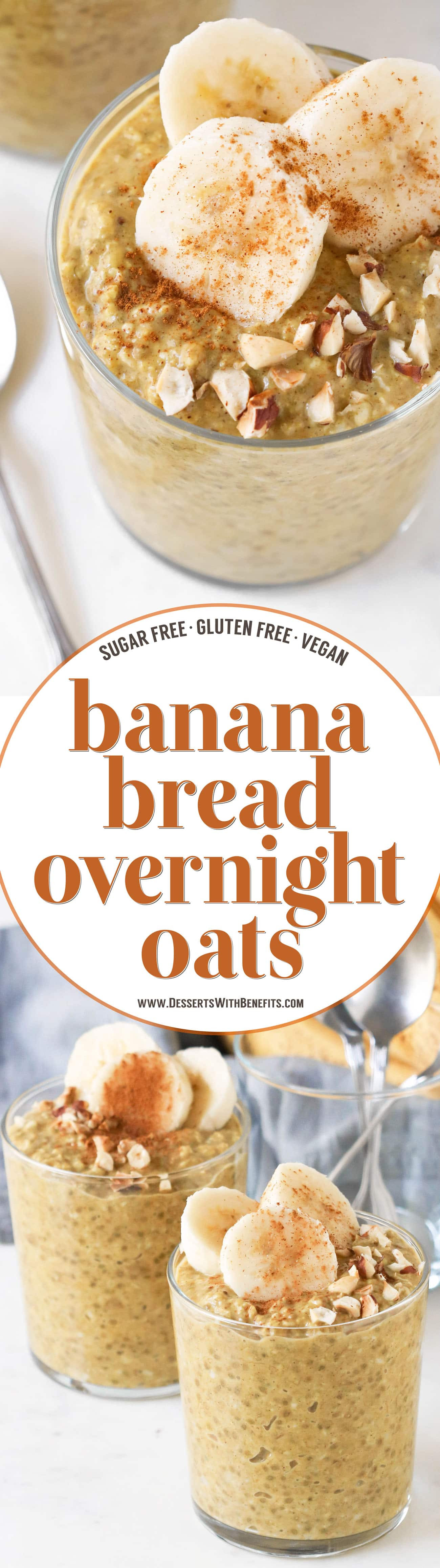 Dairy Free Overnight Oats  Banana Bread Overnight Dessert Oats