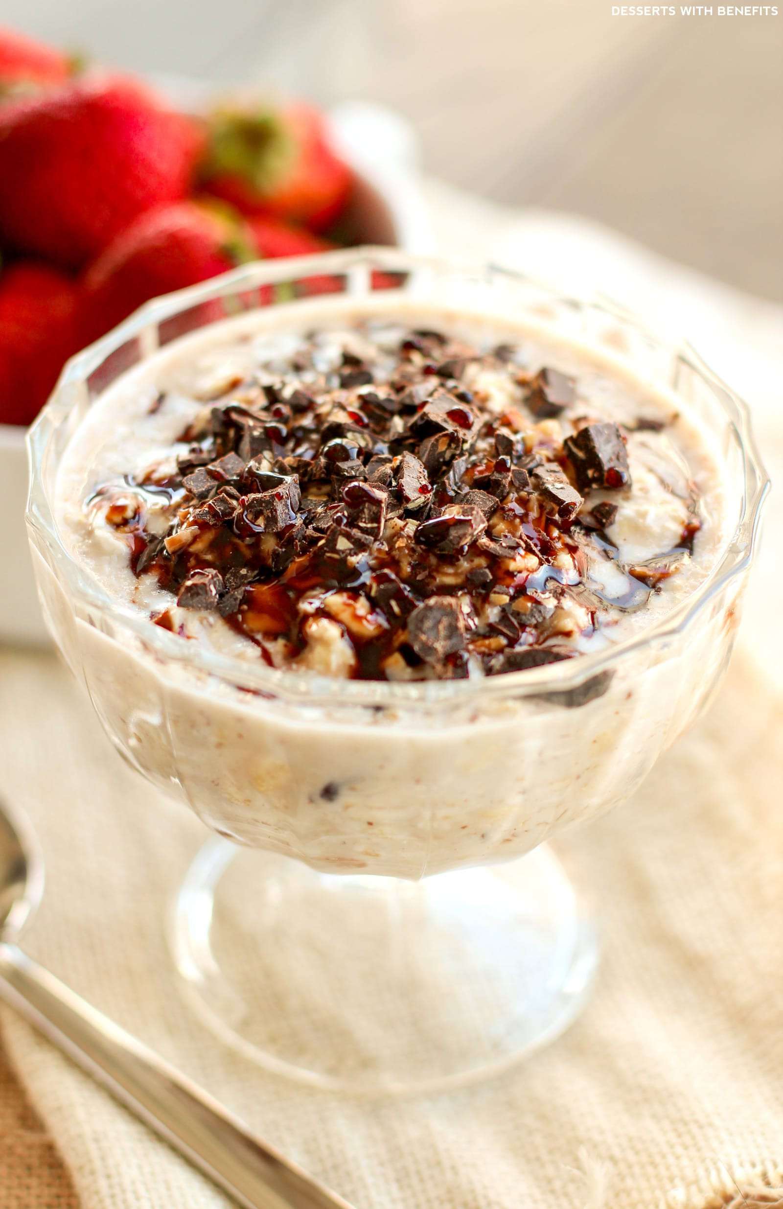 Dairy Free Overnight Oats  Healthy Samoas Overnight Dessert Oats Recipe