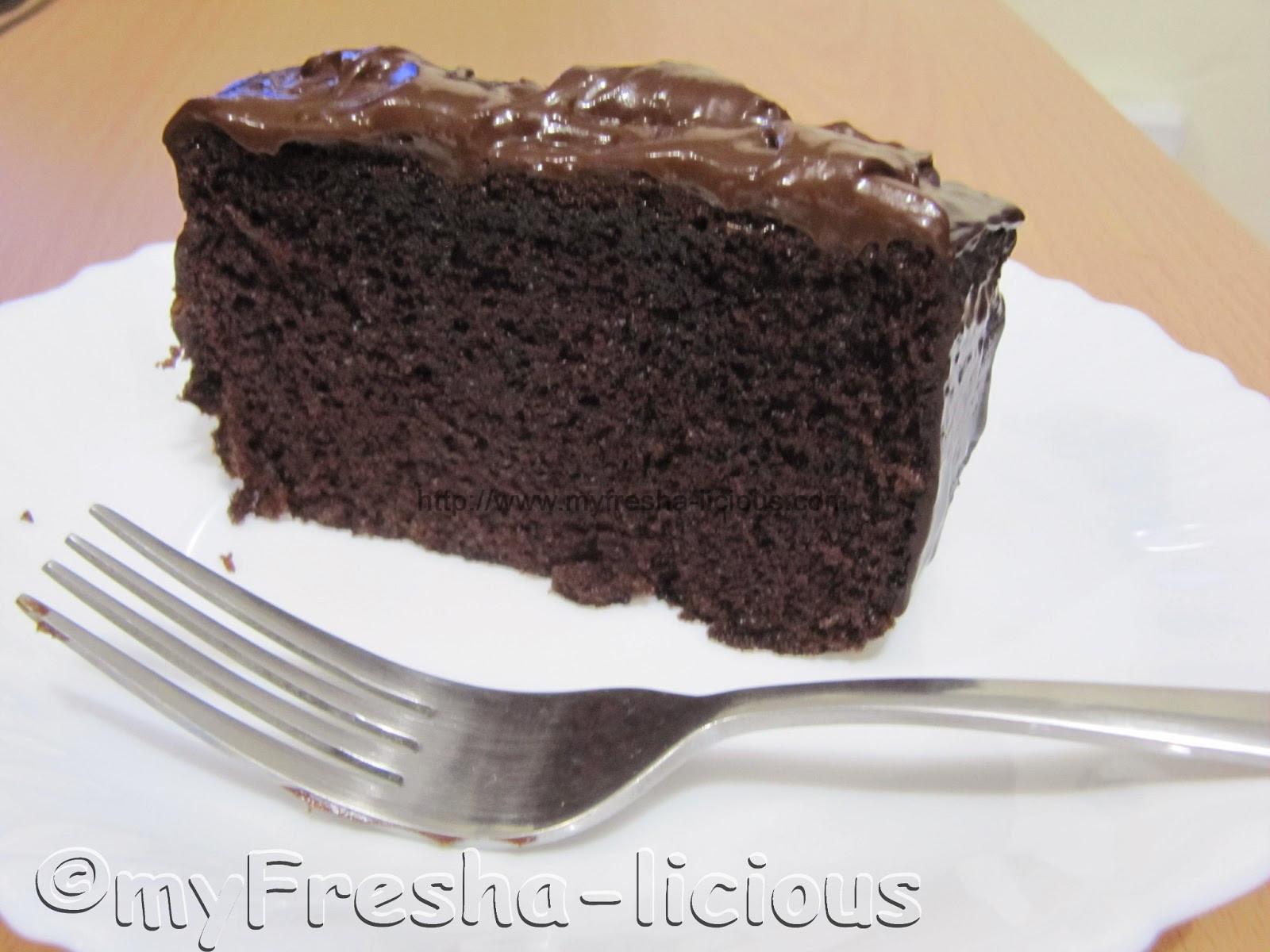 Dark Chocolate Cake Recipe  myFresha licious Moist Dark Chocolate Cake with Dark