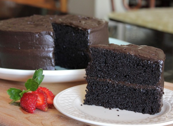 Dark Chocolate Cake Recipe  Rich Dark Chocolate Espresso Cake