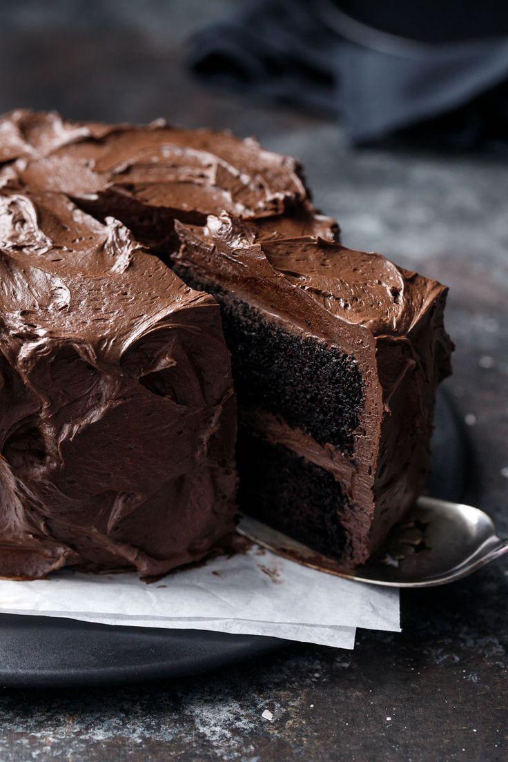 Dark Chocolate Cake Recipe  1615 best CAKES CHOCOLATE 2 images on Pinterest