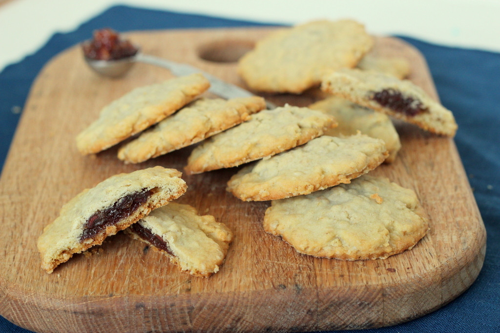 Date Filled Cookies  Tried in Blue Flashback Friday Date Filled Oatmeal Cookies