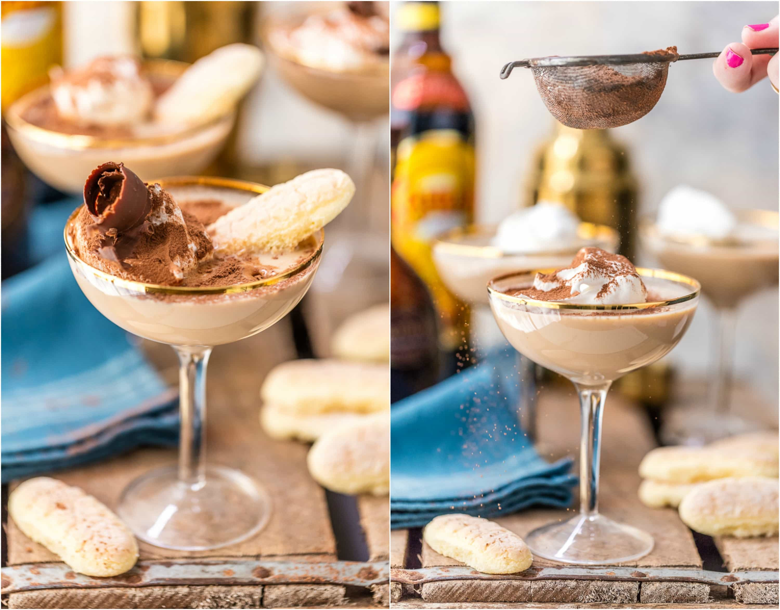 Dessert And Drinks  Tiramisu Martini Dessert Cocktail Recipe The Cookie Rookie
