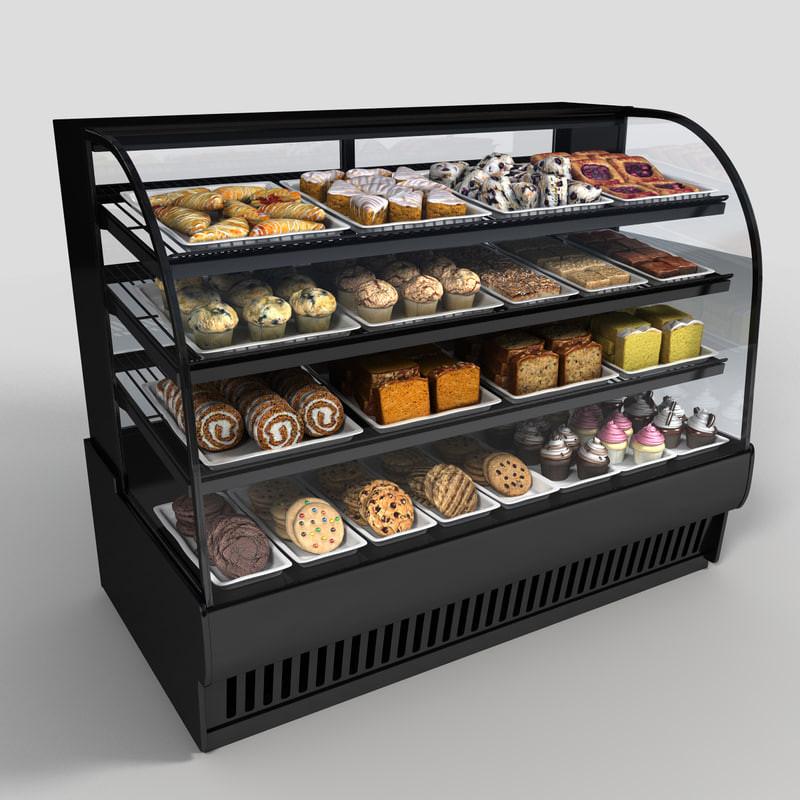 Dessert Display Case  obj pastry case