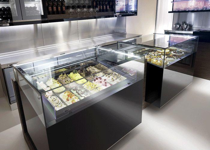 "Dessert Display Case  ""Jewelry"" display case frozen dessert and pastry display"