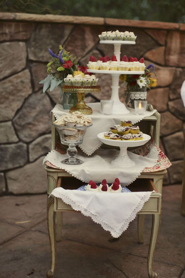 Dessert Display Stands  Rustic California Wedding by Wildflowers graphy