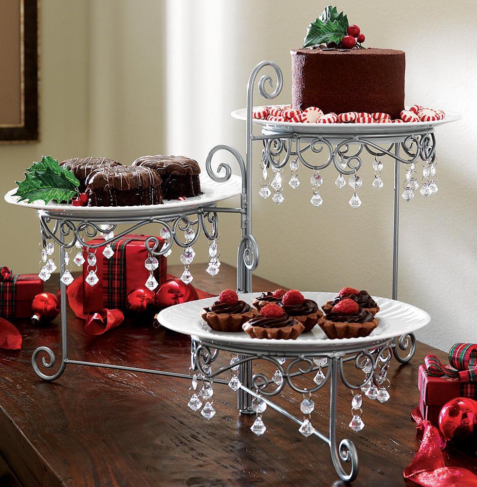 Dessert Display Stands  3 Tier Chandelier Buffet Display Stand Dessert Cake Plate