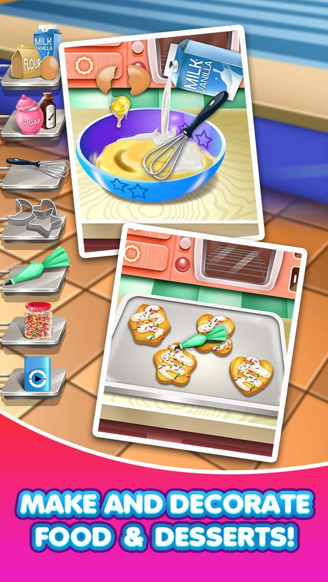 Dessert Making Games  App Shopper Dina s Food Lunch Maker Salon Dessert Cake