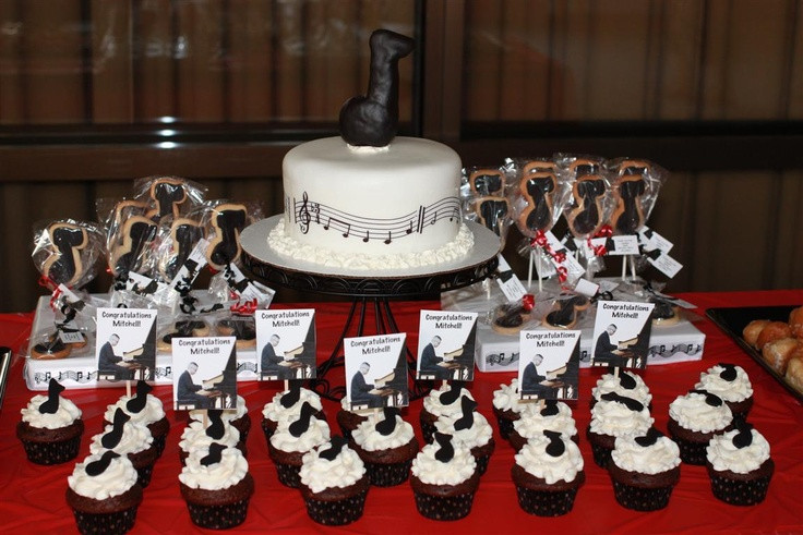 Dessert The Song  Dessert table for a piano recital by CupKits Edible