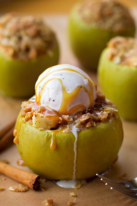 Dessert With Apples  Apple Crisp Stuffed Apples Life Made Simple