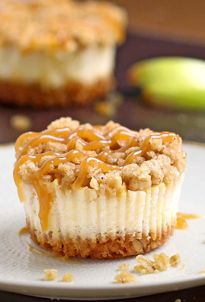 Dessert With Apples  Caramel Apple Crisp Mini Cheesecakes Cakescottage