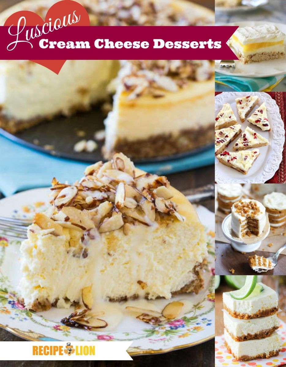 Dessert With Cream Cheese  41 Luscious Cream Cheese Desserts