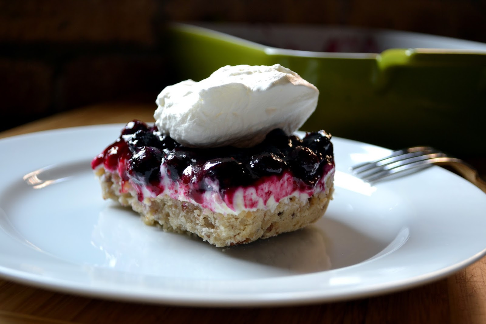 Dessert With Cream Cheese  Hardly Housewives Blueberry Cream Cheese Dessert