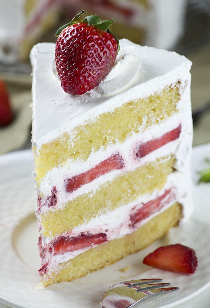 Dessert With Strawberries  Strawberry Shortcake Cake