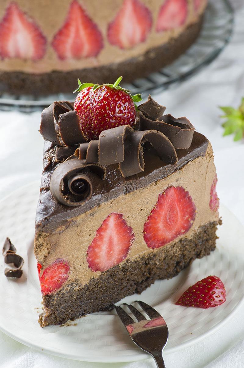 Dessert With Strawberries  Strawberry Chocolate Cake